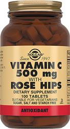 Вітамін С 500 мг та шипшина