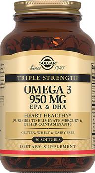 Потрійна Омега-3 950 мг ЕПК і ДГК